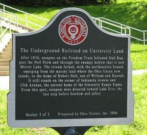 Underground Railroad Marker