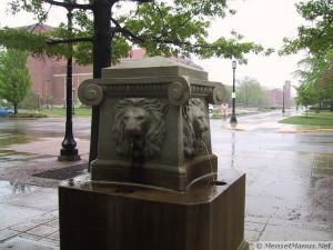 Stone Lions Fountain on Centennial Mall